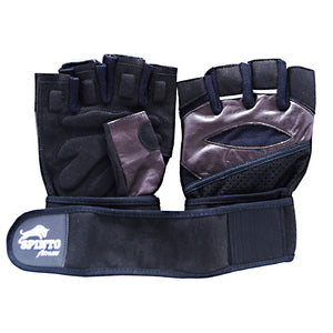 Men's Workout Gloves Brown, Extra Large 1 Pair by Spinto USA LLC