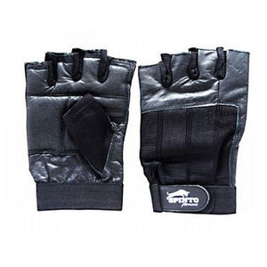 Men's Workout Gloves Black, Large 1 Pair by Spinto USA LLC