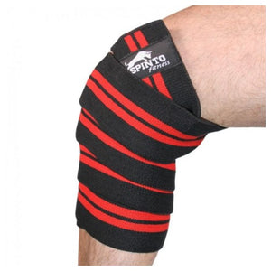 Elastic Knee Wraps Red 1 Pair by Spinto USA LLC (2587735195733)