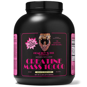 Creatine Mass 10,000 Chocolate, 5 Lb by Healthy 'n Fit (2588897017941)