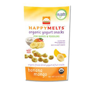 Happy Yogurt Melts Banana Mango, 8 X 1 Oz by Happy Baby Food (2587301707861)