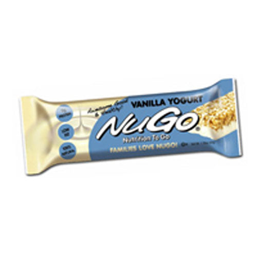 NuGO Family Nutrition Bar Vanilla Yogurt (Case of 15) / 1.76 oz by Nugo Nutrition Bar