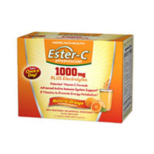 Ester C Effervescent Natural Orange  21 Pkt by American Health