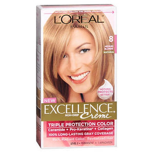 LOreal Excellence Creme Medium Blonde 1 each by L'oreal (2587968471125)