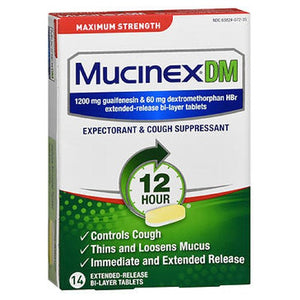 Mucinex Dm Expectorant Cough Suppressant Extended-Release 14 tabs by Mucinex Dm (2587436777557)