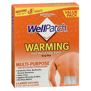 Wellpatch Warming Pain Relief Patch Large 4 each by Wellpatch (2587974500437)