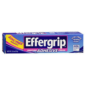 Effergrip Denture Adhesive Cream 2.5 oz by Med Tech Products (2587452014677)