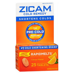 Zicam Cold Remedy Rapidmelts With Vitamin C Citrus 25 tabs by Zicam (2587452964949)