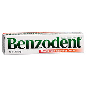 Benzodent Dental Pain Relieving Cream 1 oz by Benzodent