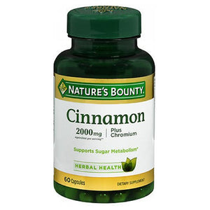 Natures Bounty High Potency Cinnamon Plus Chromium 60 caps by Nature's Bounty