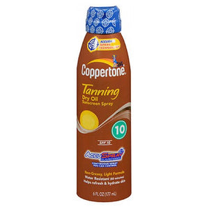 Coppertone Dry Oil Continuous Spray Sunscreen Spf 10 6 oz by Coppertone (2587981742165)