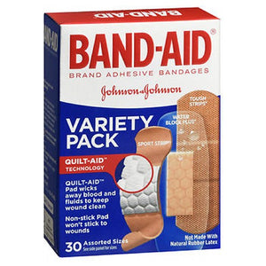 Band-Aid Adhesive Bandages Variety Pack Assorted Sizes 30 each by Band-Aid (2587464826965)