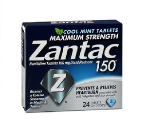 Zantac 150 Maximum Strength Acid Reducer Tablets Cool mint 24 tabs by Zantac (2587982921813)
