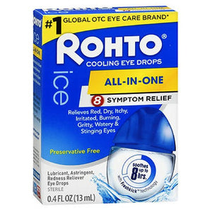 Rohto Ice Redness Relief Eye Drops 0.43 oz by Mentholatum (2587477901397)
