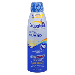 Coppertone Ultraguard Continuous Spray Sunscreen Spf 70 Plus 6 oz by Coppertone (2587987116117)