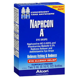 Naphcon A Eye Drops pocket size, 2 x 5 ml by Naphcon A