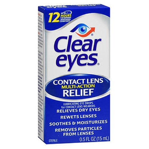 Clear Eyes Contact Lens Relief Soothing Eye Drops 0.5 oz by Clear Eyes