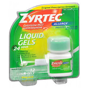Zyrtec Allergy Liquid Gels 12 caps by Johnson & Johnson (2587487010901)