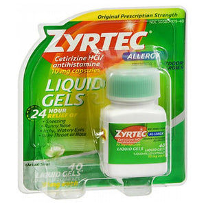 Zyrtec Allergy Liquid Gels 40 caps by Johnson & Johnson (2587487076437)