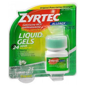 Zyrtec Allergy Liquid Gels 25 caps by Johnson & Johnson (2587487141973)