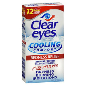 Clear Eyes Cooling Comfort Redness Relief Eye Drops 0.5 oz by Med Tech Products (2587495202901)
