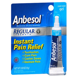 Anbesol Oral Anesthetic Regular Strength Gel Cool Mint 0.25 oz by Anbesol