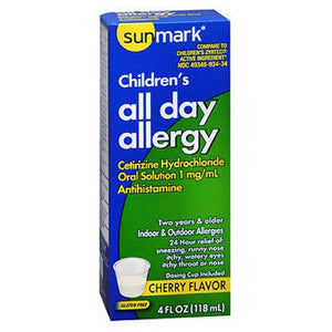 Sunmark Childrens All Day Allergy Oral Solution Cherry 4 oz by Sunmark