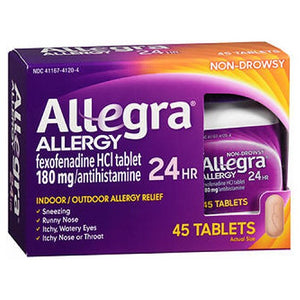 Allegra Adult Allergy Tablets 24 Hour 45 tabs by Act (2587502018645)