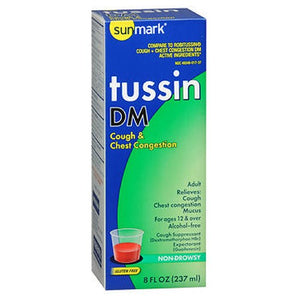 Sunmark Tussin Dm Cough & Chest Congestion Liquid 8 oz by Sunmark