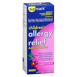 Sunmark Allergy Relief Liquid Cherry 4 oz by Sunmark