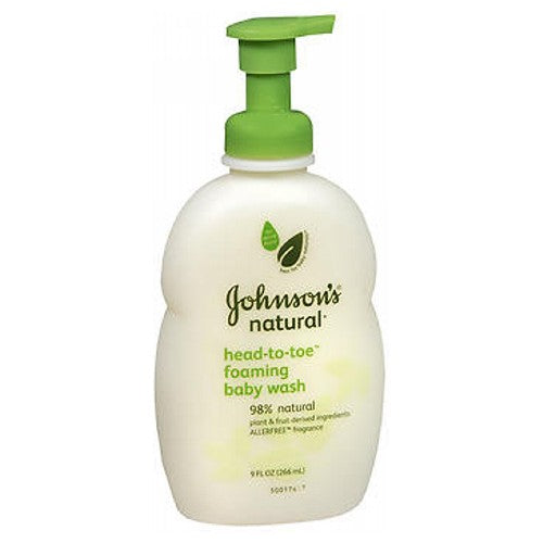 Johnsons Natural Head-To-Toe Foaming Baby Wash 9 oz by Johnson & Johnson