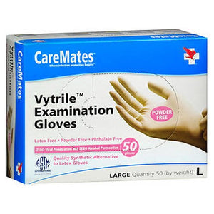 Caremates Vytrile-Pf Examination Gloves Large 50 each by Caremates