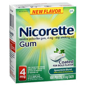 Nicorette Coated Gum Fresh Mint 100 each by Nicorette