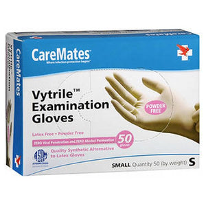 Caremates Vytrile-Pf Examination Gloves Small 50 each by Caremates
