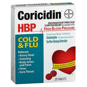 Coricidin Hbp Cold/Flu Tabs 20 tabs by Afrin