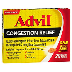 Advil Congestion Relief Coated Tablets 20 tabs by Advil