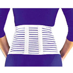 Fla Cool And Lightweight 7 Lumbar Sacral Back Support Large White 1 each by Bsn-Jobst