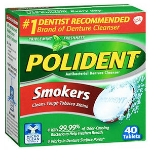 Polident Smokers Denture Cleanser 40 tabs by Polident (2587576402005)