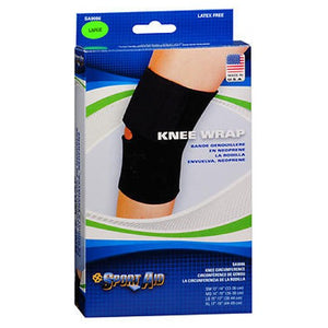Sportaid Knee Wrap Neoprene Black Large 15-17 inches 1 each by Sport Aid