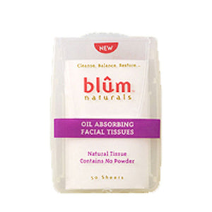 Oil Absorbing Facial Tissues 50 Count(case of 6) by Blum Naturals (2587602747477)