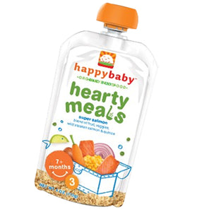 Organic Baby Food Stage 3  Super Salmon 3.5 oz(case of 16) by Happy Baby Food