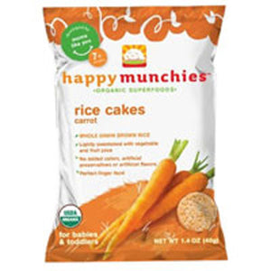 Happy Munchies Carrot Rice Cakes 1.41 oz(case of 10) by Happy Baby Food