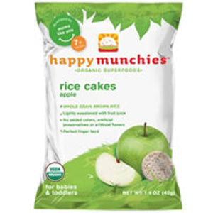 Happy Munchies Apple Rice Cakes 10 X 1.41 Oz by Happy Baby Food