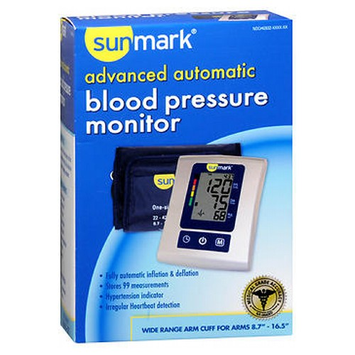Sunmark Advanced Automatic Blood Pressure Monitor 1 Each by Sunmark
