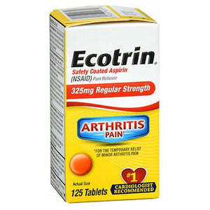 Ecotrin Regular Strength 125 tabs by Ecotrin (2590105206869)