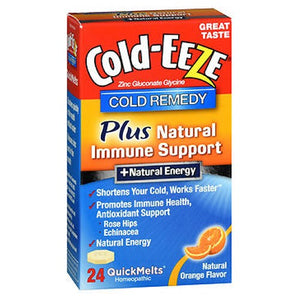 Cold-Eeze Remedy QuickMelts Natural Orange Flavor 24 Each by Cold-Eeze