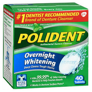Polident Overnight Whitening Tablets 40 Tabs by Polident (2590111957077)