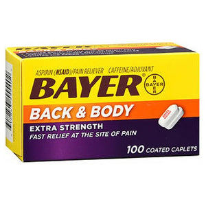 Bayer Back & Body Pain Reliever 100 tabs by Bayer (2590127685717)
