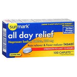 All Day Relief 100 Caplets by Sunmark (2590128341077)