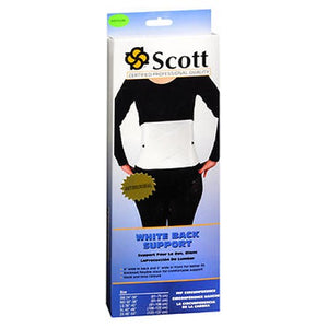 Scott Back Support White Each by Scott Specialties
